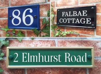 Rectangular house signs and plaques