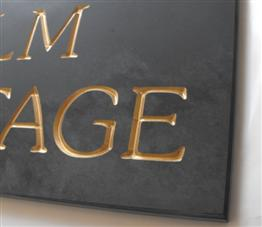 Gold V-Carved Slate Signs - click to view it larger