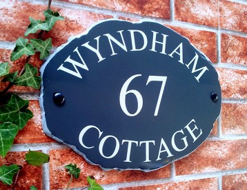 Rustic Slate Stlyle House Plaques